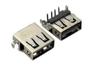 供应连欣厂家直销 USB2.0AF沉板4.9MM插板式  转接口连接器