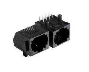 供应广东连接器厂家直销RJ45连接器 1*4排插板  RJ45网络接口 全塑连接器