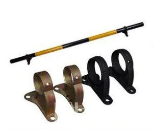 供应停车场挡轮杆底座厂家直销、车位杆铸铁底座、停车场设施