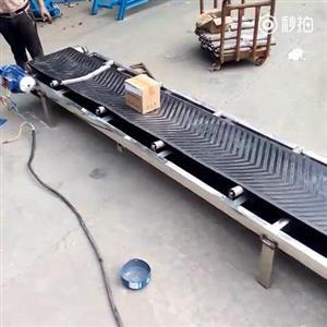 斜坡式输送机防爆电机_长度定制铝合金运输机xy1